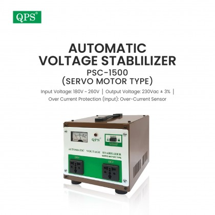 QPS Automatic Voltage Stabilizer PSC-1500 (Servo Motor Type)