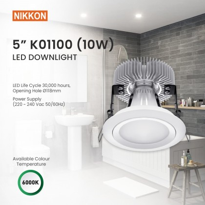 NIKKON 5 INCH LED DOWNLIGHT 6000K (Daylight) 10W [K01100]