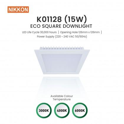 "NIKKON ECO SQUARE LED DOWNLIGHT 4INCH (4"") 15W 3000K/4000K/6000K (Warm White/Cool White/Day Light White) - K01128"