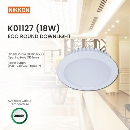 "NIKKON ECO ROUND LED DOWNLIGHT 6INCH (6"") 18W 3000K (Warm White) - K01127"
