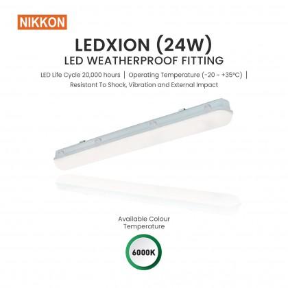 NIKKON LED Ledxion (24W) Weatherproof Fitting 6000K Daylight
