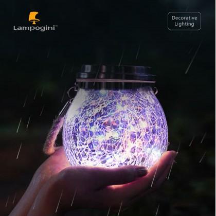 Globe Jar Solar LED Lantern