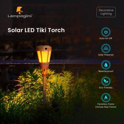 Solar LED Tiki Torch / Lampu Pelita - Warm White (4units/set)