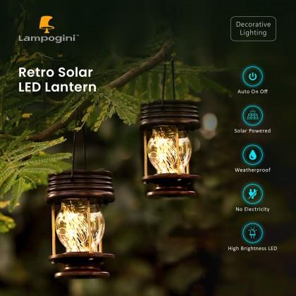 Retro Solar LED Lantern